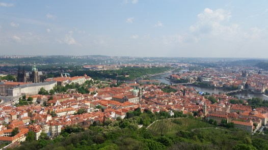 What a lovely city! Prague from the Petrin Lookout Tower.