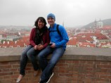 A view of Prague from the castle walls.