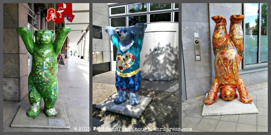 These are called Buddy Bears and can be found all over Berlin. At least a couple are on Unter den Linden.