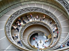You've surely seen this photo of the spiral staircase in the Vatican Museums.