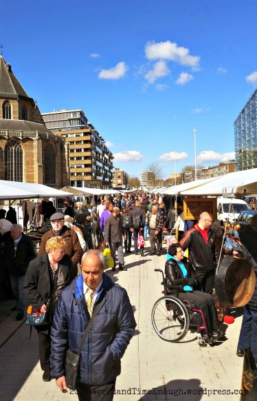 There was a flea market near the Markthal during our visit.