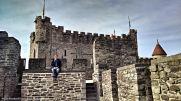 Up on the battlements of Gravensteen.