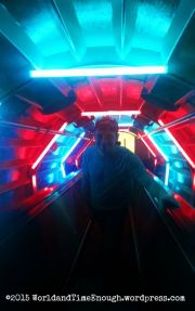 Inside the Atomium escalators.