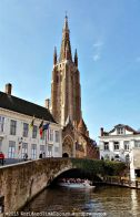 A view of the Church of Our Lady in Bruges.