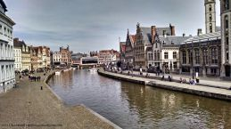 The beautiful quays along the river Leie.