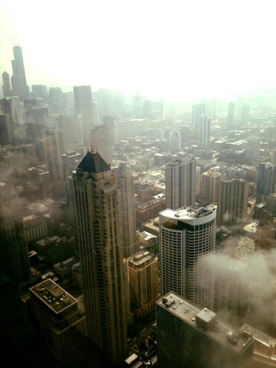 Surreal view from Hancock Tower. Photo by Jessica Williams