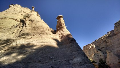 """According to the National Park Service, """"Hoodoos are tall skinny spires of rock that protrude from the bottom of arid basins and 'broken' lands."""""""