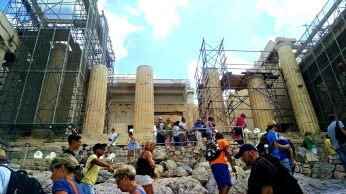 The Propylaea. Crowded, in construction, but still awesome.