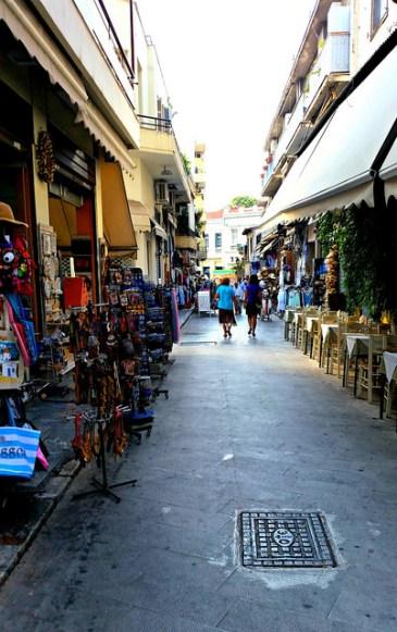 Adrianou Street in the Plaka.