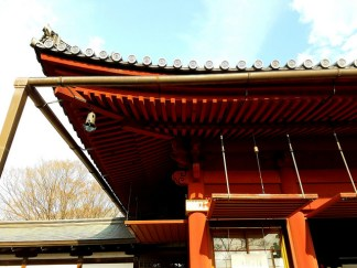 Intricate detail on the roof of Kiyomizu Kannon-do.