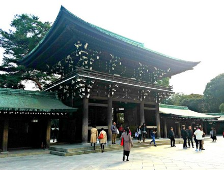 One of the main gates to Meiji Jingu.