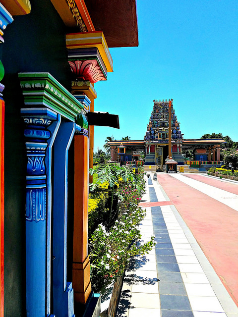 Entering the temple. That pavement was HOT