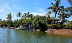 The tiny dock for Robinson Crusoe Island.