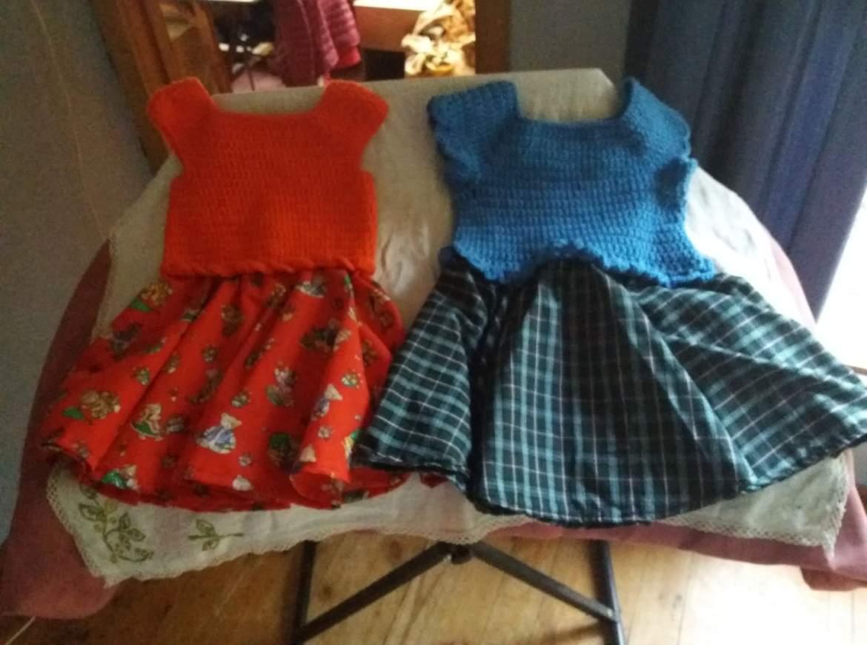 Crochet Top with Skirt