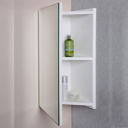 corner bathroom mirror: variants with cabinets | bathroom designs