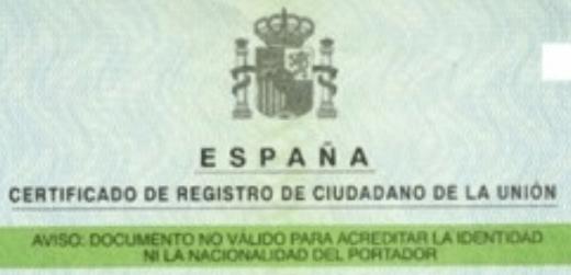 NIE- удостоверение за временна регистрация