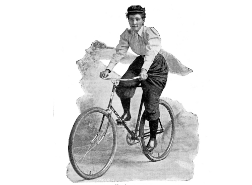 annielondonderry wearing bloomers and cycling