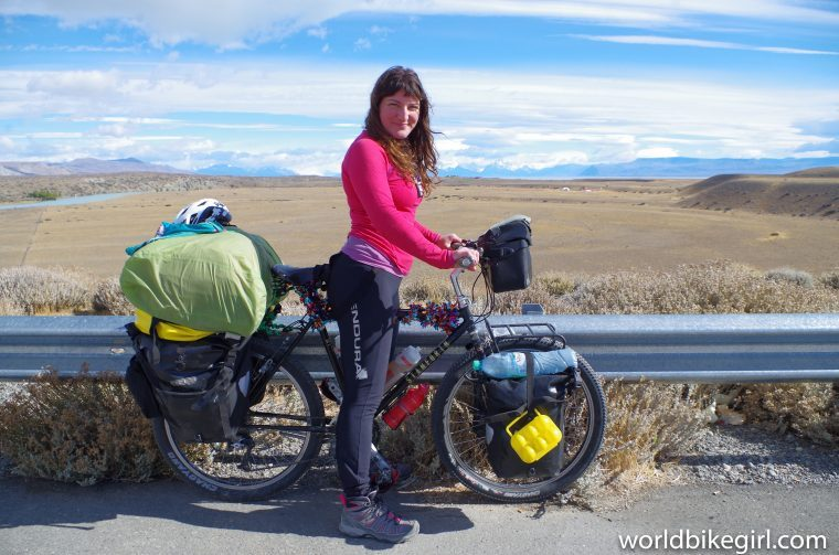 me on fully loaded bike