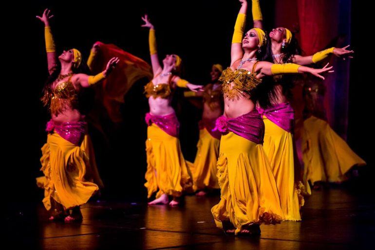 belly dancer yellow