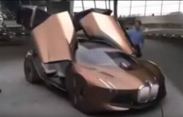 BMWビジョン100の実車動画公開