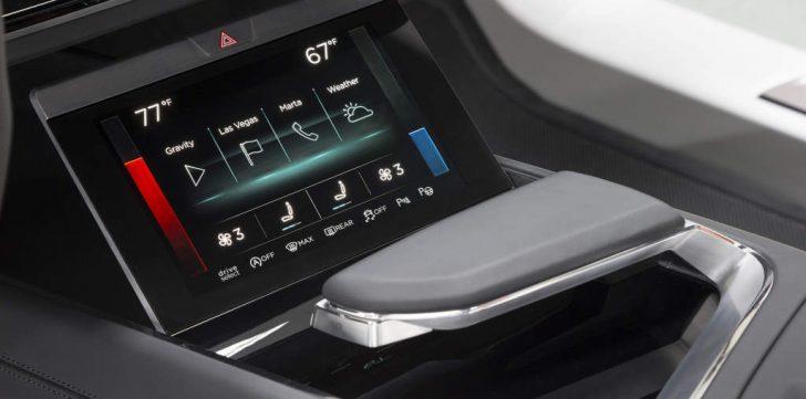 e-tron quattro conceptのエアコンディスプレイ