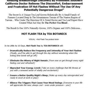 Web Site Copy for Organic Tea Company