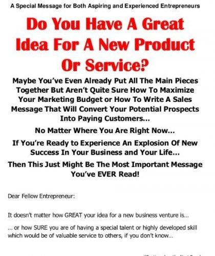 Online Sales Page for Aspiring Entrepreneurs