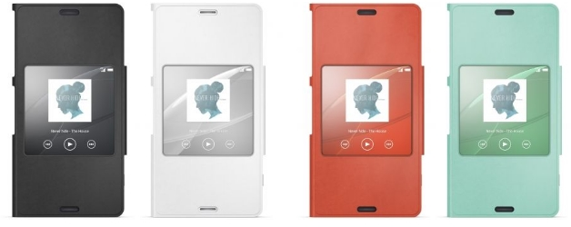 Husa Sony SCR26, tip Style Book piele eco pentru Sony Xperia Z3 Compact, Alb a