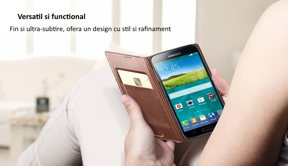 Husa Flip Wallet Cover pentru Samsung Galaxy S5 (G900)