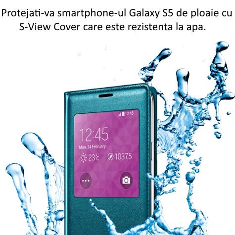 Husa S-View Flip Cover pentru Samsung Galaxy S5 (G900) 3