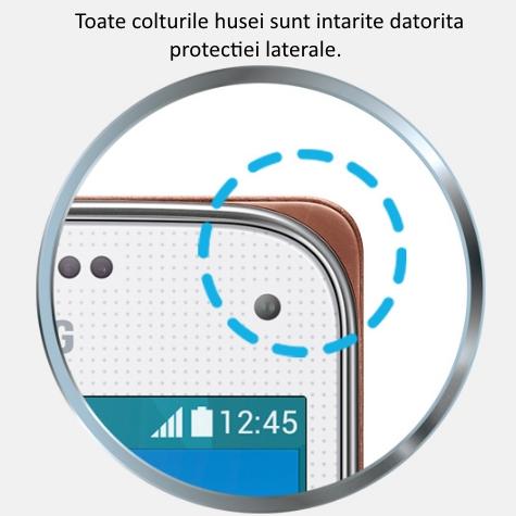 Husa de protectie Flip Wallet pentru Samsung Galaxy S5 Mini (G800) 5