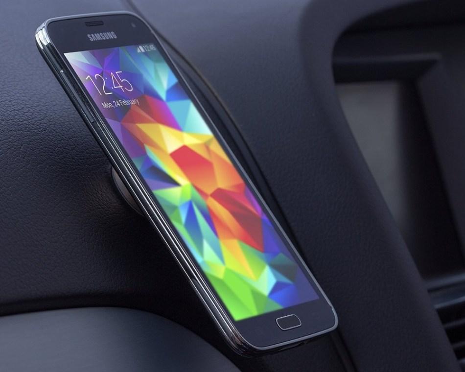 Suport auto telefon magnetic universal, prindere de bord, Kit HOLMAGGD, Auriu 9