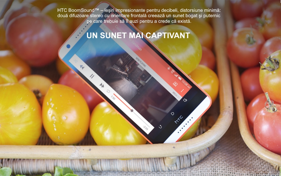 Telefon mobil Single SIM HTC Desire 820, 16GB LTE, Dark Grey 3