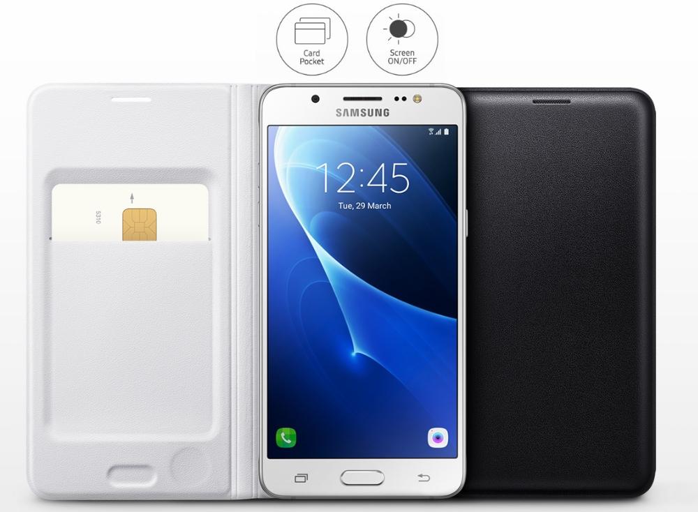Husa Flip Wallet pentru Samsung Galaxy J5 2016 (J510), EF-WJ510PB Black 3