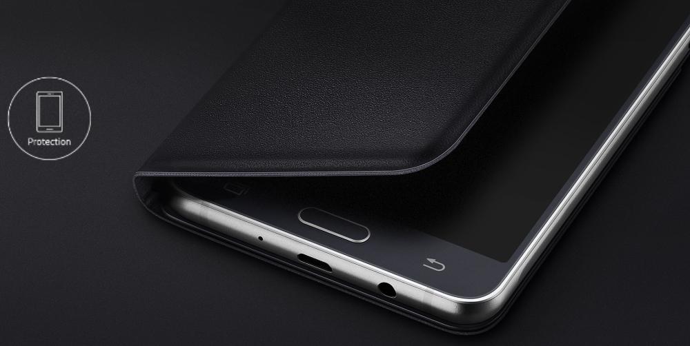Husa Flip Wallet pentru Samsung Galaxy J5 2016 (J510), EF-WJ510PB Black 4