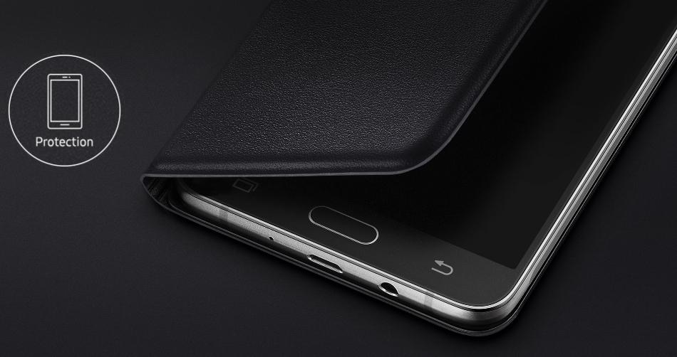 Husa Flip Wallet pentru Samsung Galaxy J7 2016 (J710), EF-WJ710PB Black