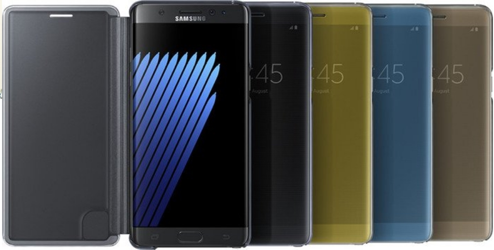 Husa Clear View Cover pentru Samsung Galaxy S7 Edge (G935), EF-ZN930CL