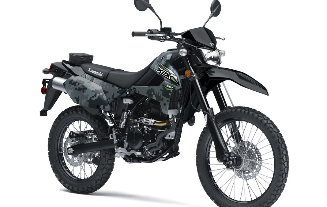 2018 KLX 250S in Camo Gray