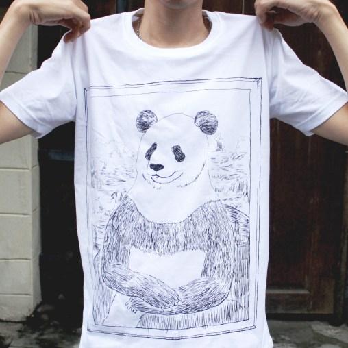 「パナ・リザ」Tシャツ 着用イメージ