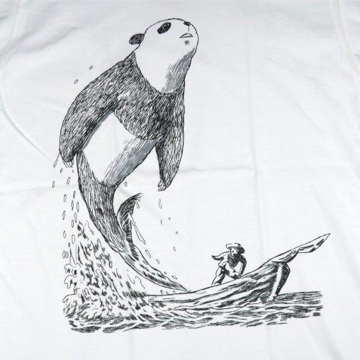 「白鯨パンダ」Tシャツ イラスト部分