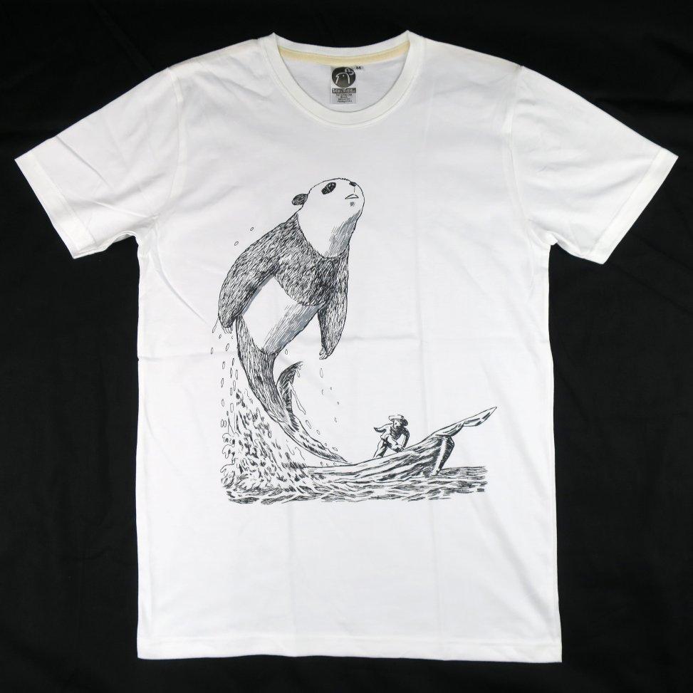 「白鯨パンダ」Tシャツ