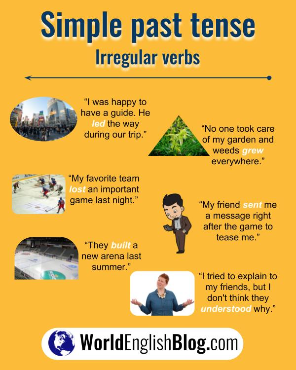 10 English irregular verb examples