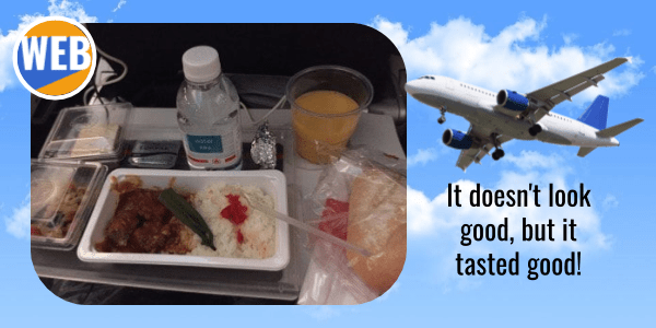 Learn English with a story - airline food