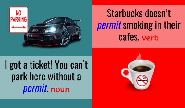Permit - Noun and Verb meaning