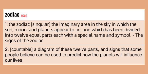 zodiac meaning