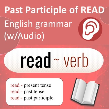 present tense, past tense, and the past participle of the verb read
