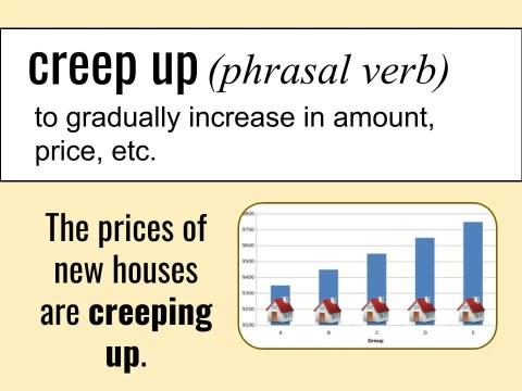 creep up ESL Listening Vocabulary