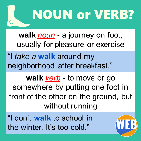 Walk noun or verb