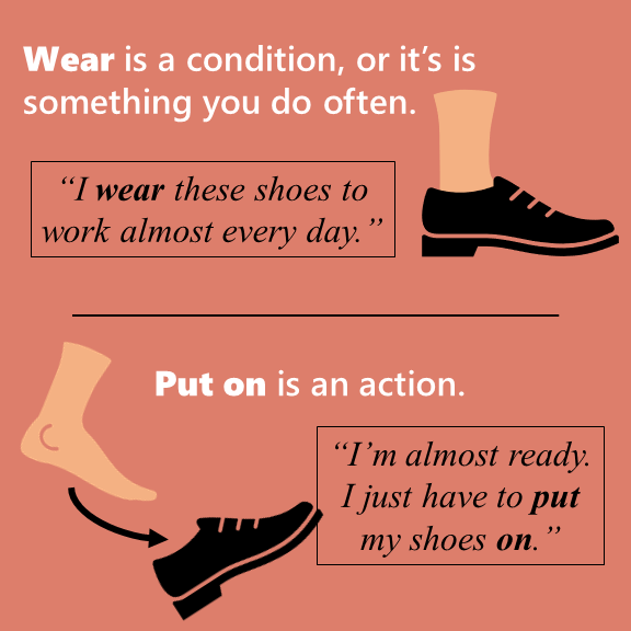 Wear Vs Put On