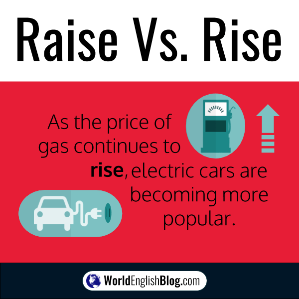 As the price of gas continues to rise, electric cars are becoming more popular. RTransitive and Intransitive verbs